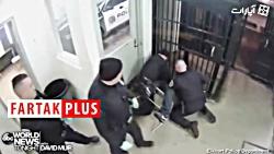 کتک زدن یک رنگین پوست توسط پلیس های آمریکایی + فیلم