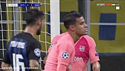 خلاصه بازی اینترمیلان 1-1 بارسلونا ( 15 آبان 97 ) - HD
