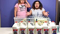 ساخت اسلایم با تخم مرغ !دوخواهر