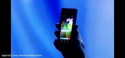 لحظه معرفی اولین تبلت  گوشی با نمایشگر تاشدنی سامسونگ