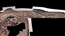 نگاه به پشت مریخ نورد ک...