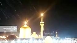 بارش باران در شب شهادت امام رضا (ع) هم اکنون در حرم مطهر رضوی