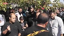 اهتزاز پرچم متبرک رضوی در میدان امام رضا(ع) سمنان