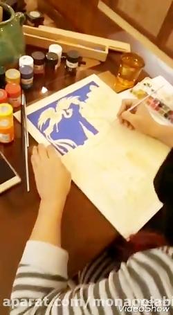 نقاشی زال و رودابه مونا گلابی