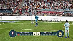 گیم پلی پنالتی بازی رئال مادرید و سلتا ویگو