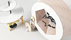 موشن گرافیک شوریل زیبا از ماشین هایی ساخته شده از وسایل هنری