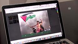 عکس خبرگزاری آناتولی؛ سمبل جدید مقاومت مردم فلسطین