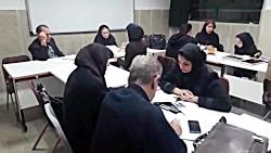 کار گروهی دانشجویان در درس روش های تدریس