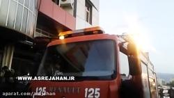 انبار یک فروشگاه در شعله های آتش سوخت+فیلم