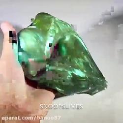 اسلایم سبز متالیک