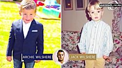 مقایسه کودکی ستاره های فوتبال با چهره فرزندشان