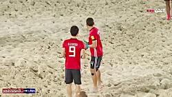 خلاصه بازی فوتبال ساحلی ایران 3 - مصر 1