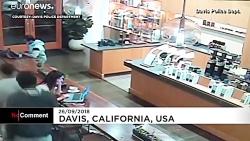 دزدیدن لپ تاپ مشتری در کافی شاپ در کالیفرنیای آمریکا