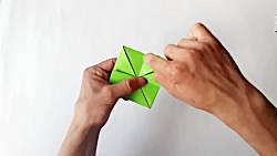 Origami rana saltarina de papel - Rana de origami - Paper frog origami
