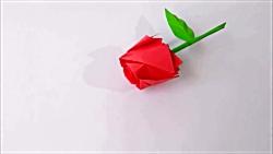 Rosa de Origami   How to make a paper rose
