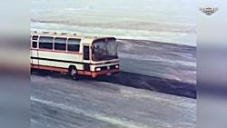 تست ترمز ضد قفل اتوبوس و کامیون قدیمی مرسدس