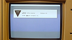 Apple Lisa 1 demo - Lisa Office System 1.0 - extremly rare machine - first GUI