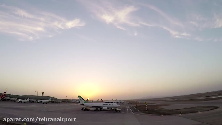 تایم لپس دیدنی از غروب آفتاب در فرودگاه بین المللی امام خمینی(ره)