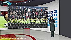 وزیر ورزش با تیم ترمیم استادیوم در یک قاب شبکه مردم خبر