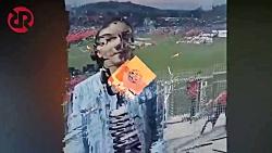 حضور دختران و زنان افغانستانی در استادیوم فوتبال بدون حجاب اجباری