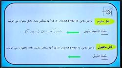 نمونه فیلم تدریس عربی نظام جدید (فعل مجهول) استاد مومن زاده