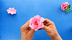 Origami Rose   Paper flowers DIY tutorial easy