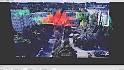 بدیل موقعیت و راستای LiDAR در فضای سه بعدی RVIZ در ROS