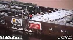 ساخت تونل غوطه ور در زیر رودخانه Söderström در شهر استکهلم سوئد
