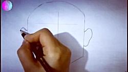 آموزش نقاشی چهره سیاه و سفید