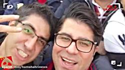 حامد همایون در بین هواداران پرسپولیس
