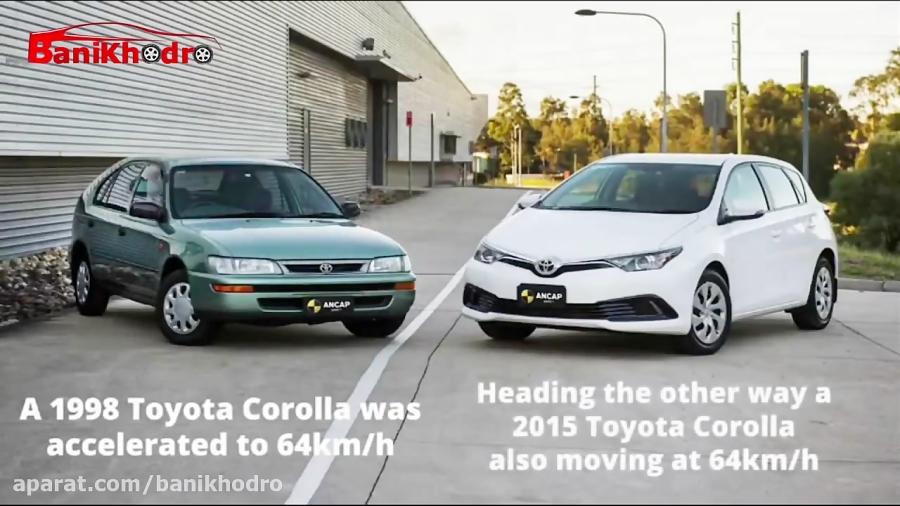 تست تصادف خودروهای جدید و قدیم