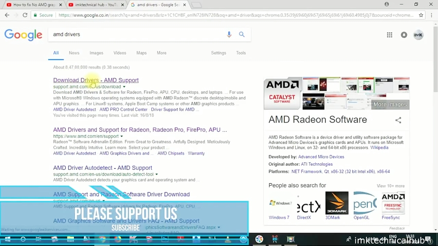 How to fix No AMD graphics driver is installed