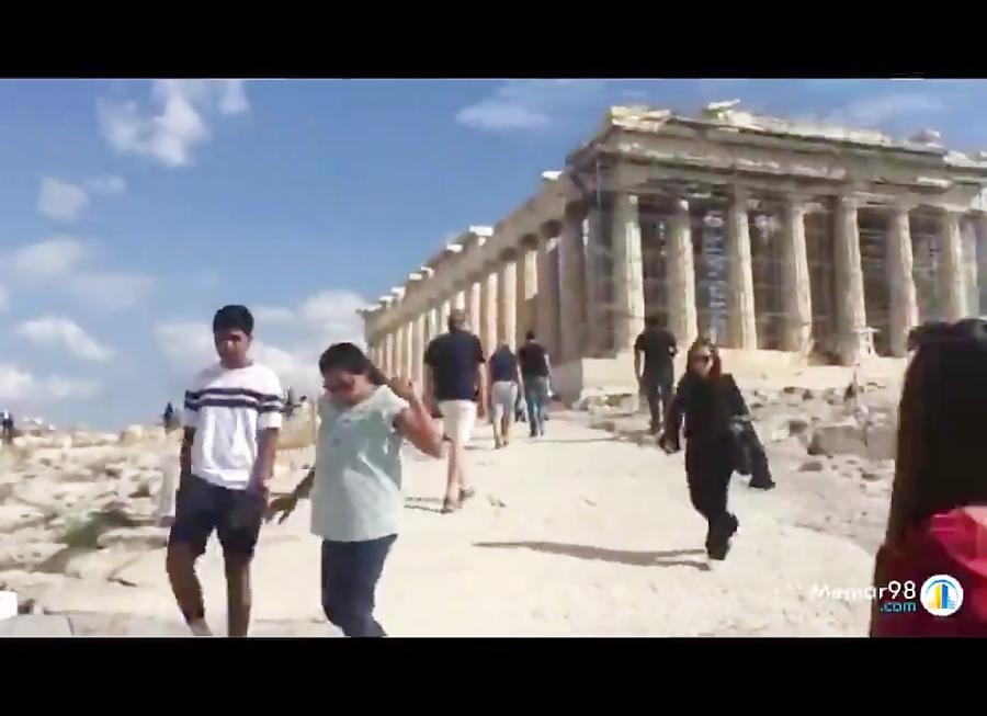 فیلم آکروپولیس در شهر آتن یونان