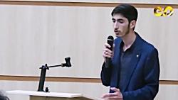 مراسم مطالبه گری دانشجویی با حضور نمایندگان مجلس،آقایان کریمی و ابراهیمی