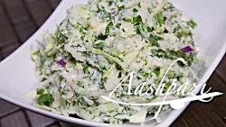 Potato Cabbage Salad Recipe 4K