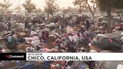 بی خانمان شدن ساکنان یک شهر در آتش سوزی مهیب کالیفرنیا