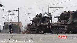 لحظه کشته شدن سرباز رومانیایی بر اثر برق گرفتگی
