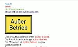 واژه های روزمره آلمانی Außer Betrieb