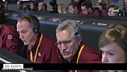 لحظه فرود کاوشگر ناسا بر سطح مریخ از نگاه اتاق کنترل ناسا