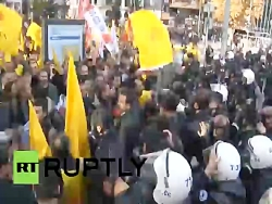 Turkish police use tear gas, water cannons...