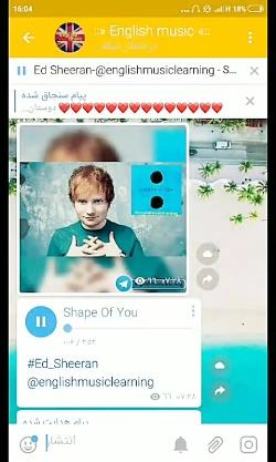 ترجمه آهنگ Ed sheeran - shape of ...