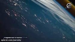 تصویر نجومی روز ناسا: مشاهده پرتاب موشک از ایستگاه فضایی بین المللی
