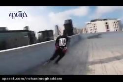 پارکور نفسگیر روی بام برجهای هنگکنگ