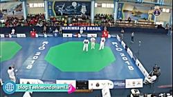 ۷۴-kg | رامین حسین قلی زاده (ایران) با کای ژانگ (چین)