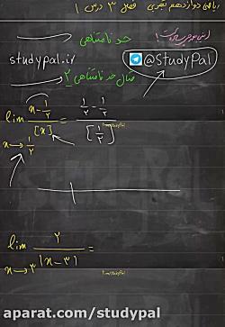 ویدیو حل حد جزء صحیح ریاضی دوازدهم