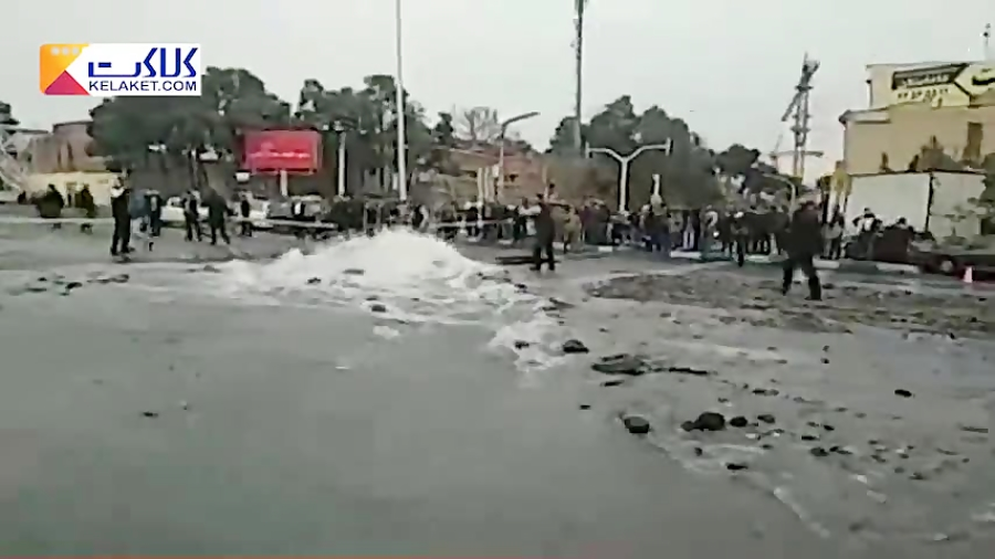 ترکیدن لوله اصلی انتقال آب در منطقه 2 تهران