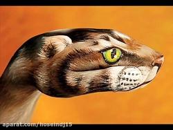 طراحی حیوانات روی دست