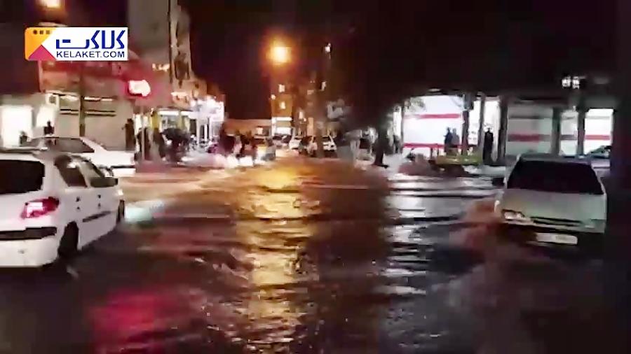 تصاویری از آبگرفتگی شدید در استان خوزستان