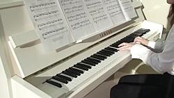 اجرای موسیقی بی کلام غمگین / پیانو / پیاده روی در زمستان