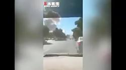 لحظه انفجار بمب در چابه...